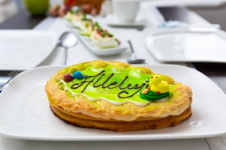 Mazurek - traditional polish flat cake for Easter