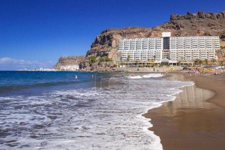 Atlantic beach of Gran Canaria island in Taurito