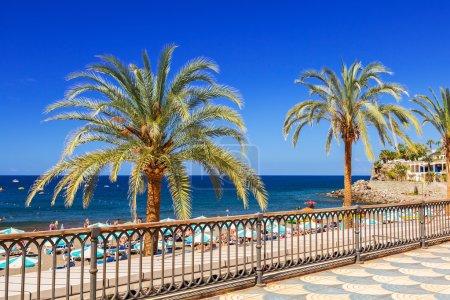 omenade to the beach in Taurito on Gran Canaria island