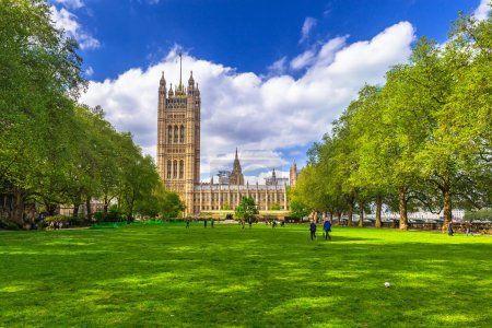 Architecture of the Westminster Palace in London