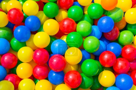 Background of colorful platic balls