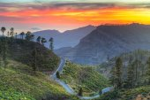 Mountains of Gran Canaria island at sunset