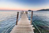 Sunset at Ionian sea on Zakhynthos island