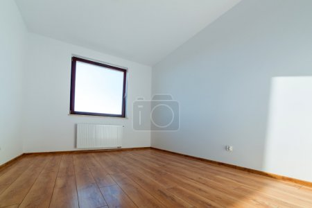 Photo for Apartment interior with wooden floor after renovation - Royalty Free Image