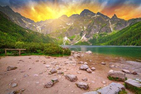 Tatra mountains at sunset, Poland