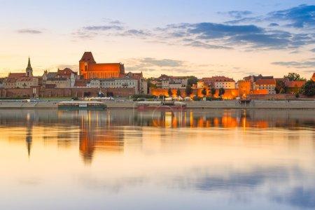 Torun old town at sunset, Poland