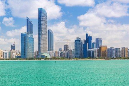 Panorama of Abu Dhabi in sunny day