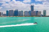 Panorama of Abu Dhabi in sunny day