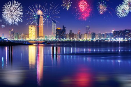 New Years fireworks display in Abu Dhabi