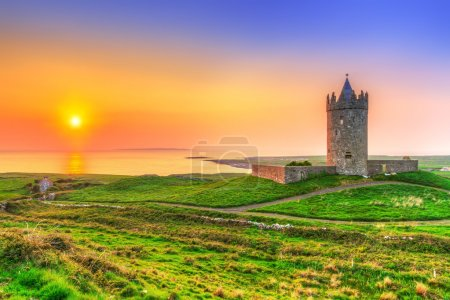 Doonagore castle at sunset, Ireland