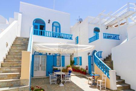 White architecture details of Santorini island
