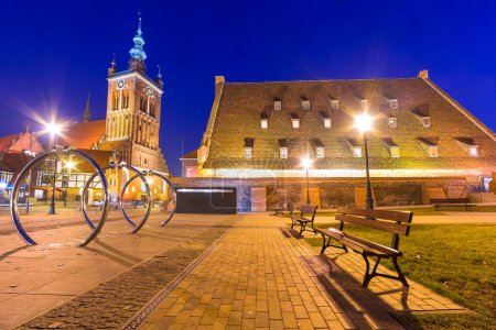 The Large Mill and St. Catherine's Church in Gdansk