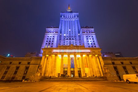 The Palace of Culture and Science in the city center of Warsaw, Poland