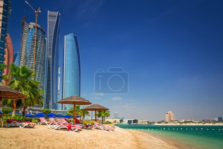 Tropical beach in Abu Dhabi
