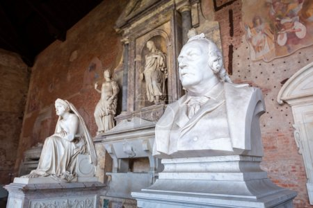 Sculptures in the Monumental Cemetery at Leaning Tower of Pisa