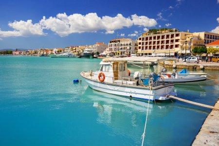 Marina with boats on Zakynthos, Greece