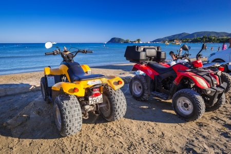 Quads on the beach of Laganas on Zakynthos island