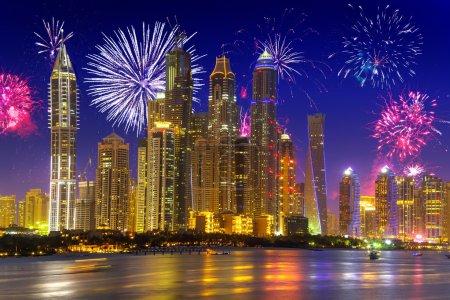 New Year fireworks display in Dubai