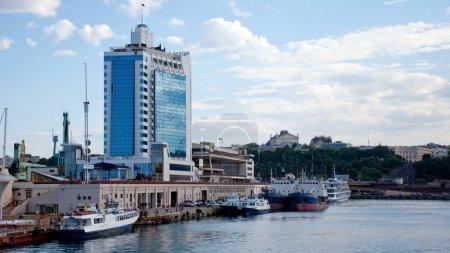 Seaport and Hotel in Odessa, Ukraine