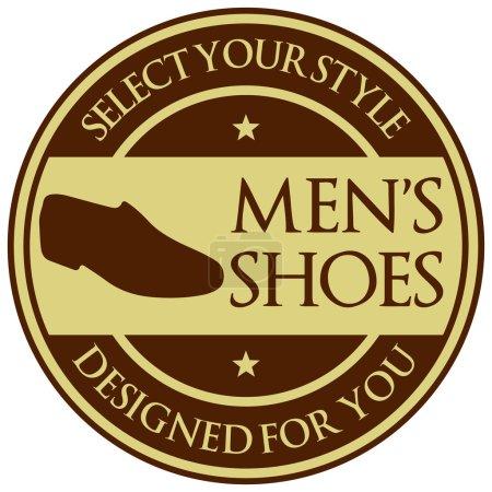Men shoes label