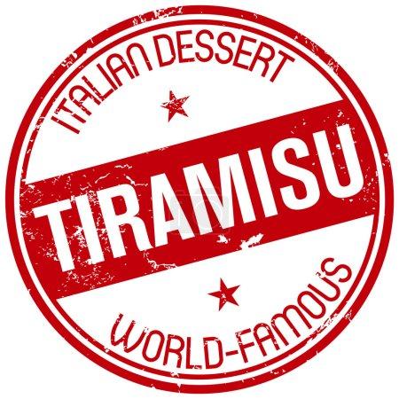 World-famous tiramisu stamp
