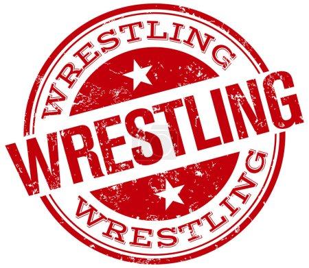 Wrestling rubber stamp