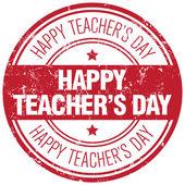 happy teachers day stamp