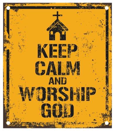 Illustration pour Garder le calme et adorer signe de Dieu - image libre de droit