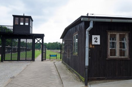 Dramatic scenery of concentration camp Stutthof in...