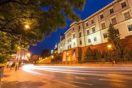 Zamkowa street by night