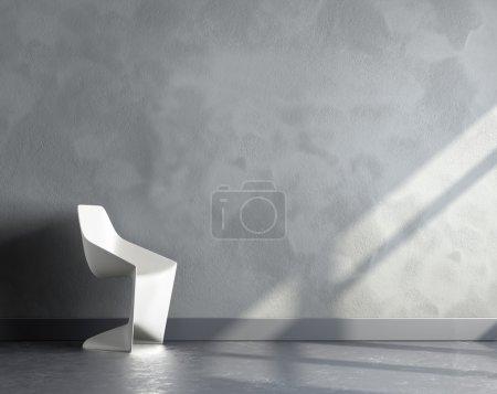 3d render of big empty room