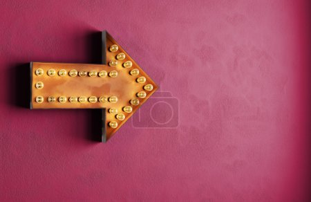 Photo pour Flèche de vintage retro ampoules - image libre de droit