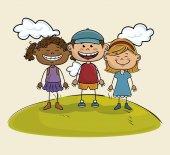 Šťastné děti design