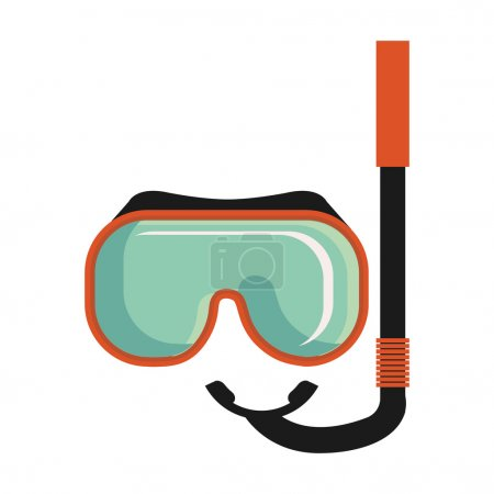 colorful snorkel stuff, vector graphic