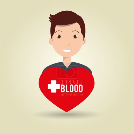 man blood donor red