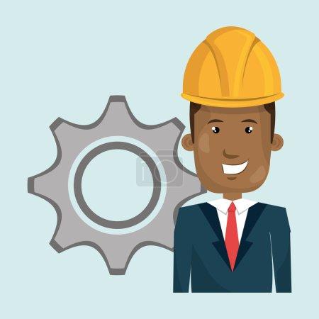 Man construction tool gears