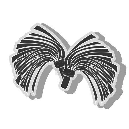 cheerlader pom symbol icon vector illustration