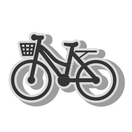 Illustration for Bike transport vehicle, isolated flat icon design. - Royalty Free Image