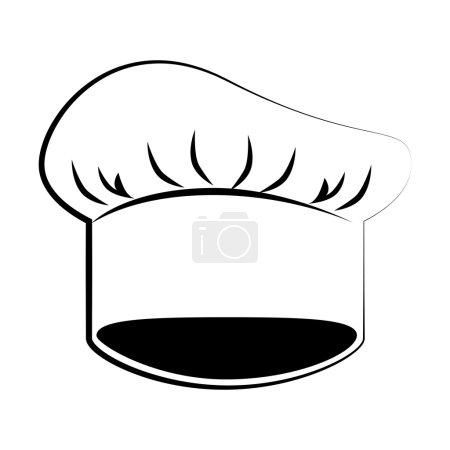 Illustration pour Restaurant chef chapeau, icône plate isolée design - image libre de droit