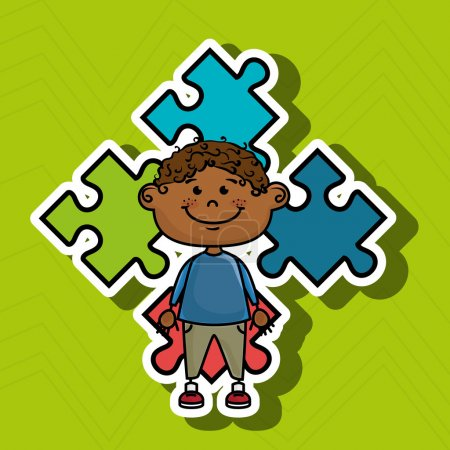 boy kids puzzle icon