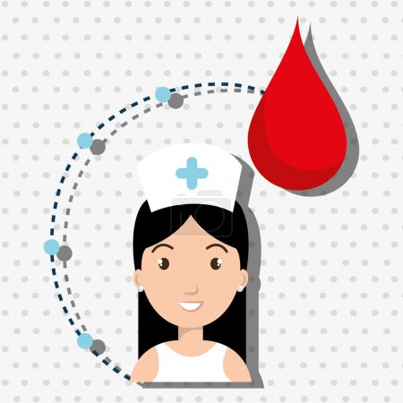 woman medical staff blood