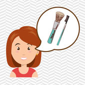 woman make up brush