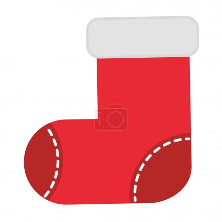 Christmas stockings isolated icon