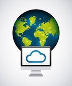 Cloudové výpočetní služby izolované ikonu