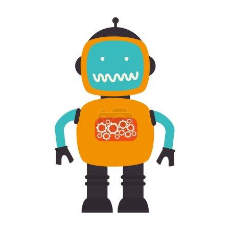 Illustration for Robot technology future innovation vector illustration eps 10 - Royalty Free Image