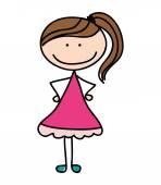 little girl cute character