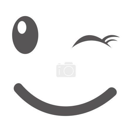 Illustration for Face emoticon kawaii comic vector illustration design - Royalty Free Image