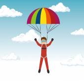 extreme sports skydiving design isolated