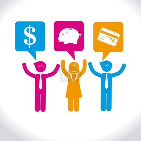 Illustration pour Conception d'argent sur fond blanc, illustration vectorielle - image libre de droit