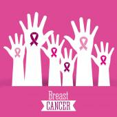 Breast cancer graphic design  vector illustration